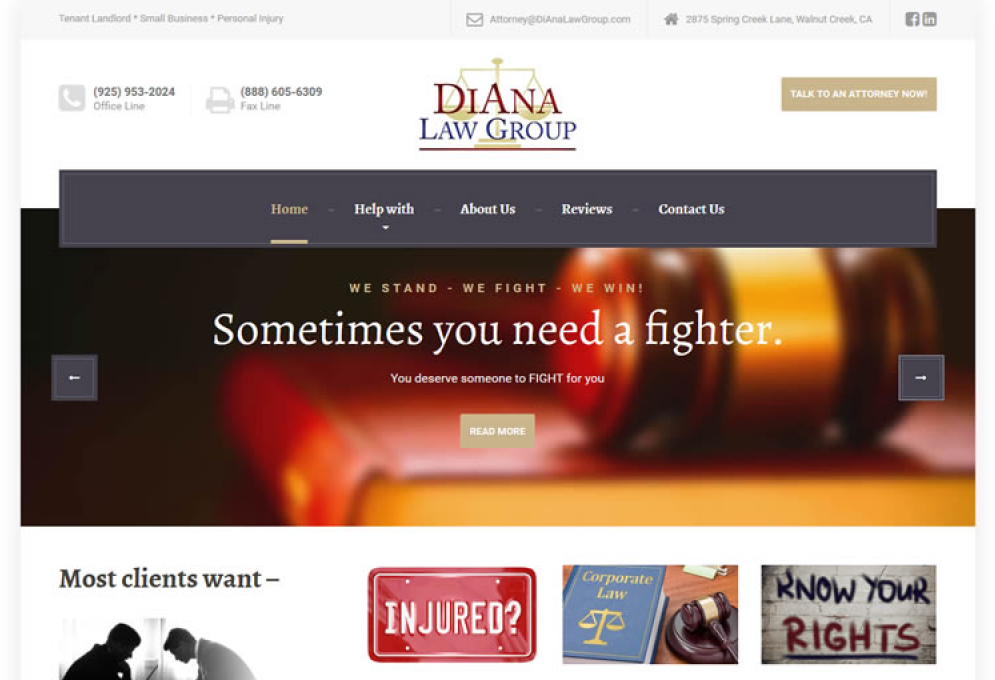 Mobile Responsive Attorney Website